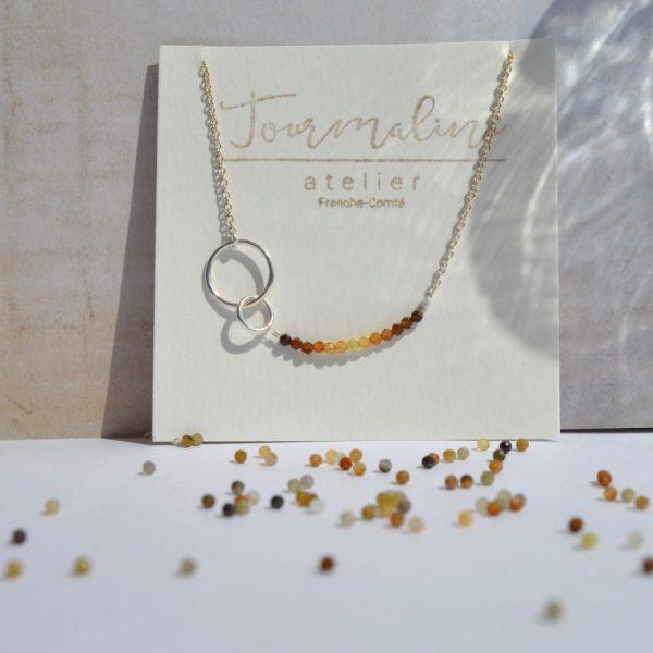 bijoux-pierre-argent-vrai-sautoir-lithothérapie-tourmaline-marron-4