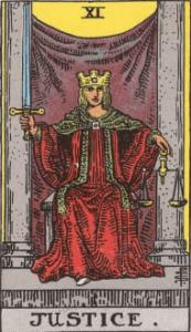 ウェイト版タロットカード正義