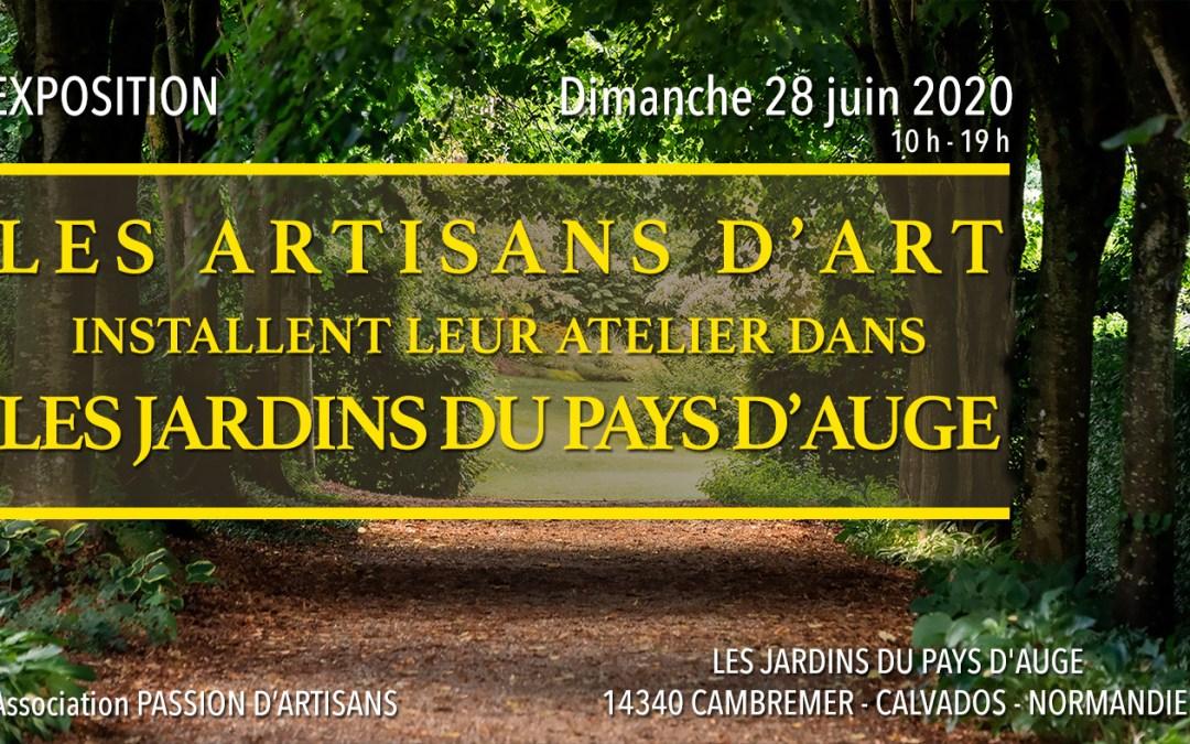 Exposition de Métiers d'Art dans les Jardins du Pays d'Auge, à Cambremer, dimanche 28 juin 2020.