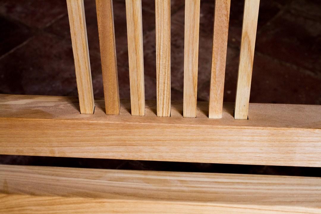 Grande console Shintô 神道 en frêne, par l'Atelier Villard.