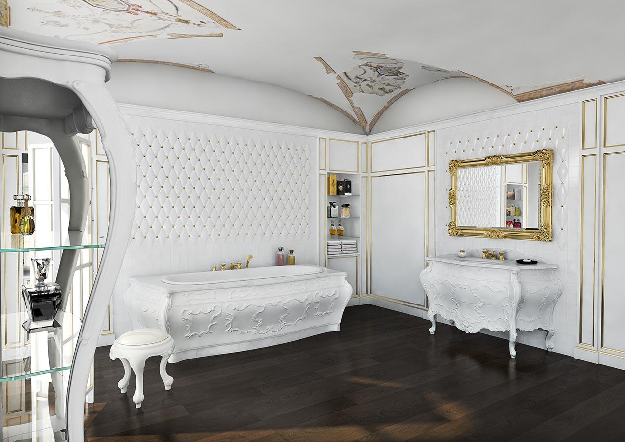 Mobili bagno per Sala da Bagno in stile 700 Bianchini  Capponi