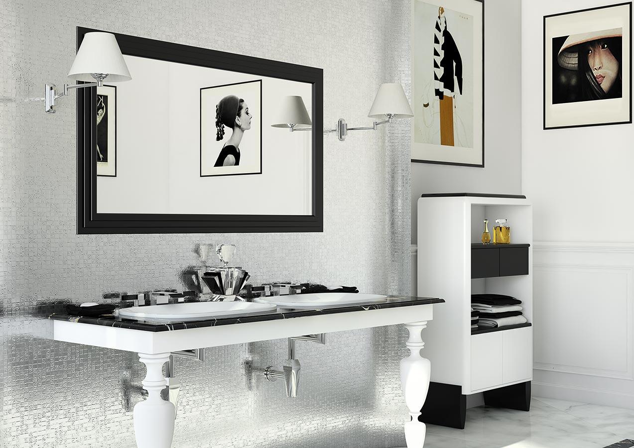 Sala da bagno per Suite Hotel Arredo bagno in stile neoclassico
