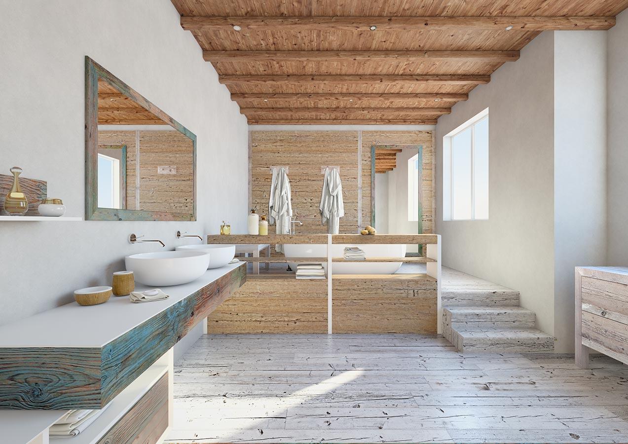 Progetto di arredamento Sala da bagno Mobili bagno linea Multicolor