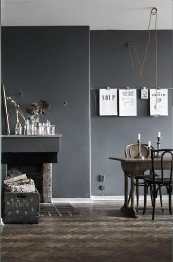 Ga eens voor een donkere wand in huis  Atelier09