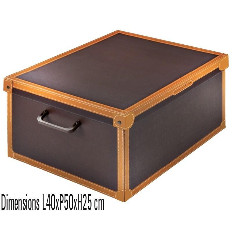 boite de rangement carton decor imitation cuir
