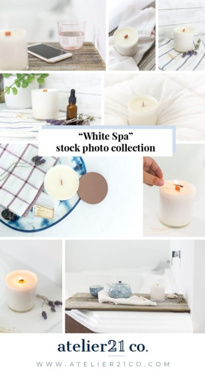 White relaxing spa inspired photo collection