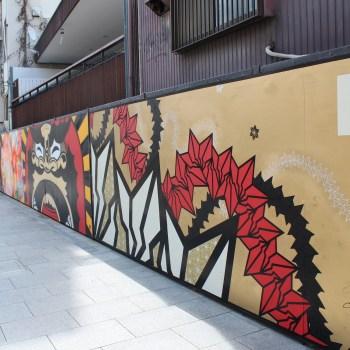 とんぼりリバーウォーク、BAKIBAKI、道頓堀アートサミット、ウォールシェア、グラフィティ、ストリートアート