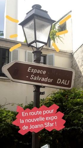 instagram, en route pour l'Espace Dali, pour l'xpo Joann Sfar