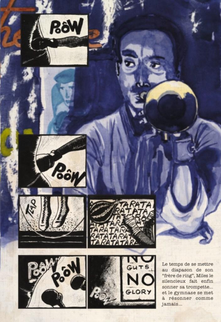 La planche 3 de la BD Jazz and Jabs par Dave Cart Hounist