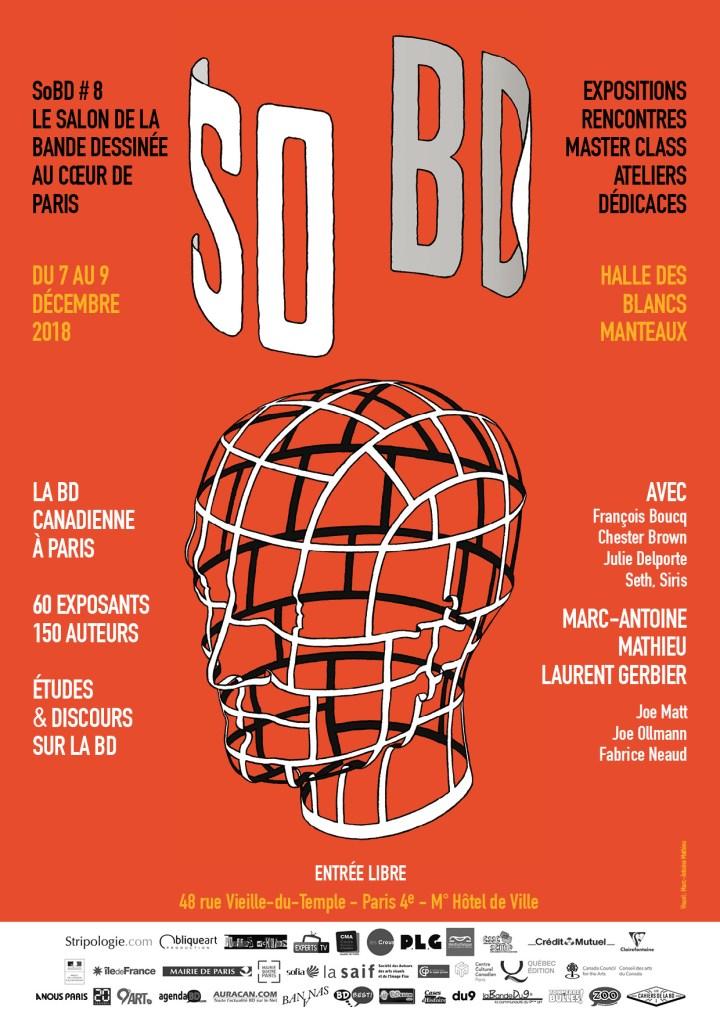 L'affiche du festival SoBD 2018