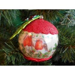 film retractable manchon pour 4 boules de noel 8cm petit classic christmas