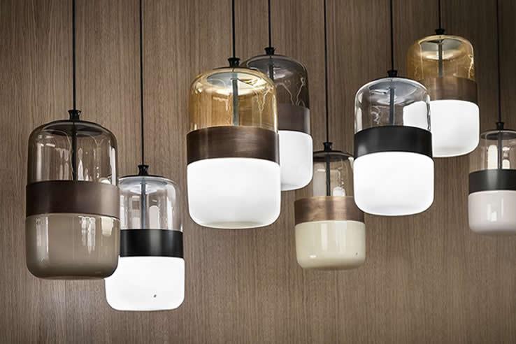 Plafondlamp  Glazen design lampen woonkamer