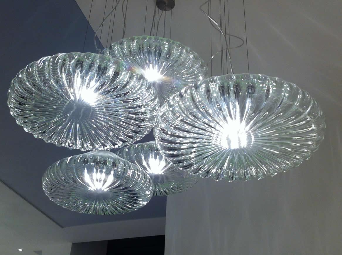Stijlvolle glas design hanglampen
