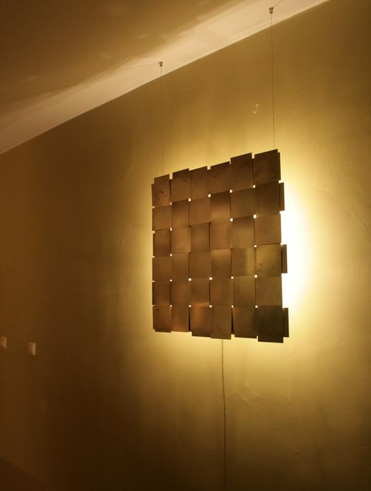 Design wandlamp  kunst en lichtobject