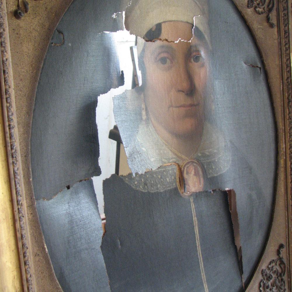 Portrait de femme XIXe siècle