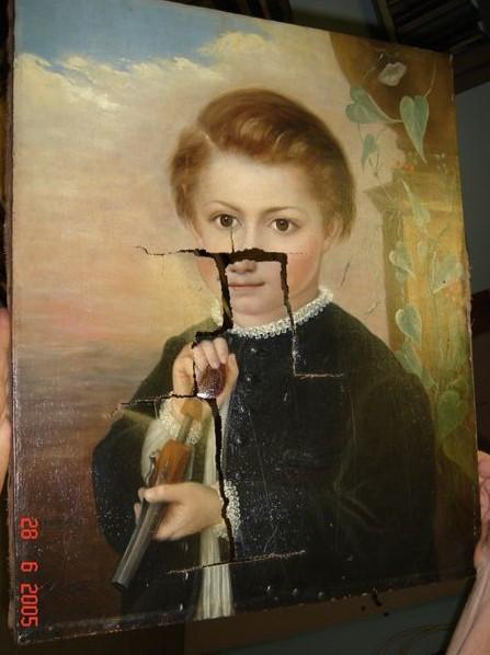 Portrait de jeune homme XIXème siècle