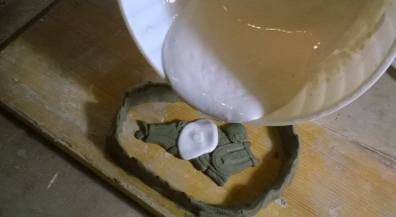 the plaster casting