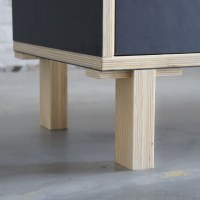Atelier Antipode | office cabinet in plywood with forbo ...