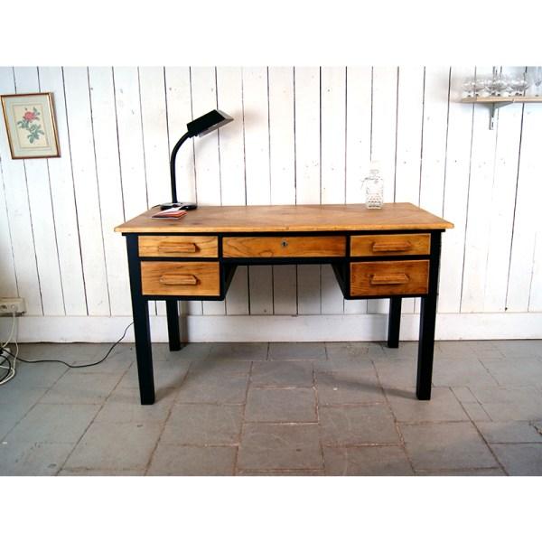 bureau-tiroir-chene-et-noir-2