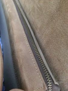 sacoche cartable Atelier C détail zip intérieur