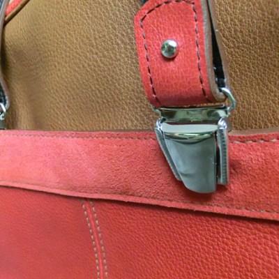sac nomade cuir Atelier C détail bretelle