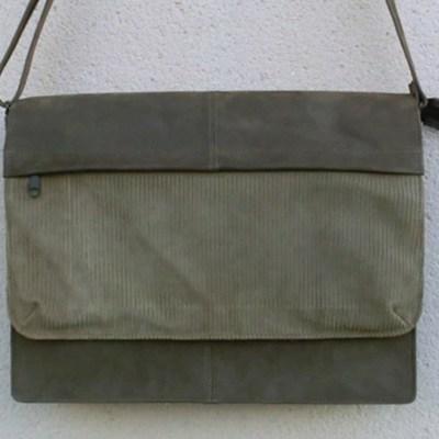 sacoche cartable cuir mixte