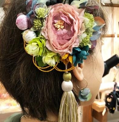 FUNFUNさんの髪飾りワークショップ