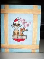 Meerkats waiting for Santa