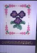 Pansies birthday card - DMC Floral Quick Kit