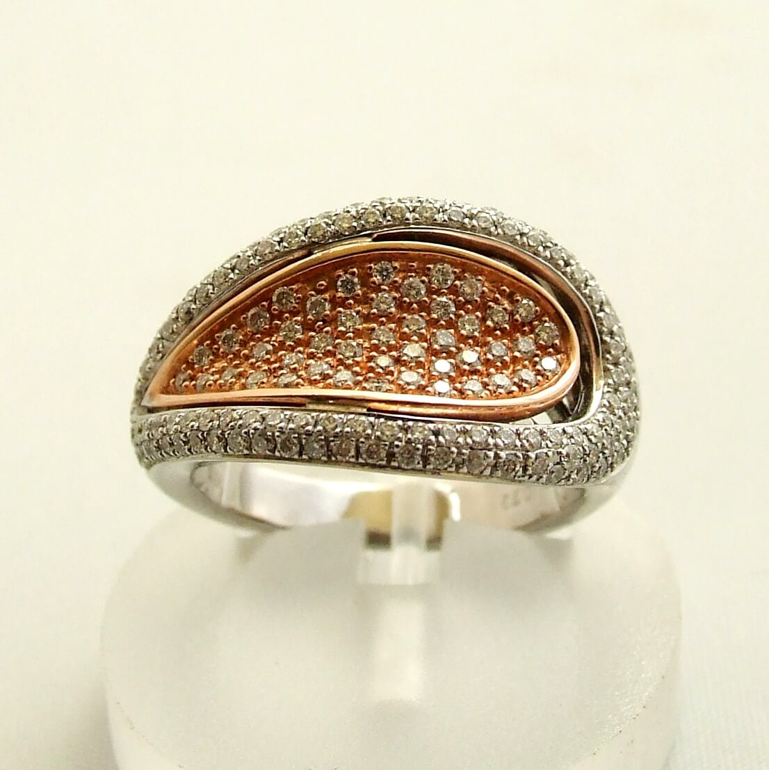 Bicolor gouden ring met diamant kopen Gouden ring  Juwelier Christian