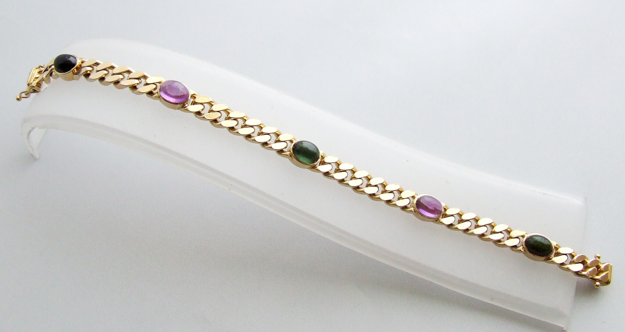 Gouden armband met amethyst en toermalijn kopen Gouden