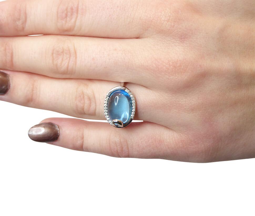 Gouden ring met topaas en diamant kopen Juwelier Christian