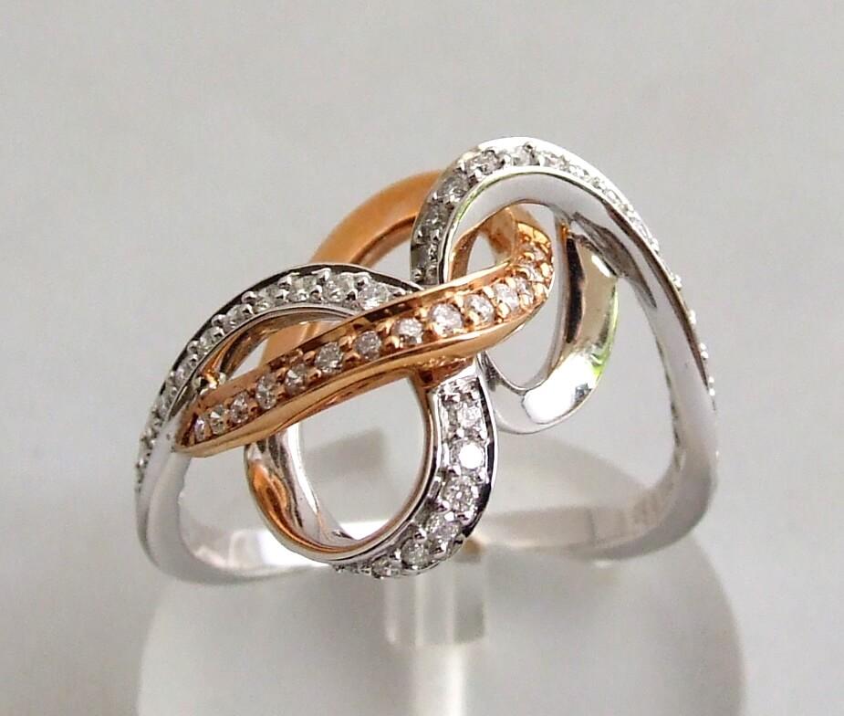 Bicolor gouden ring met diamanten kopen Ringen  Juwelier