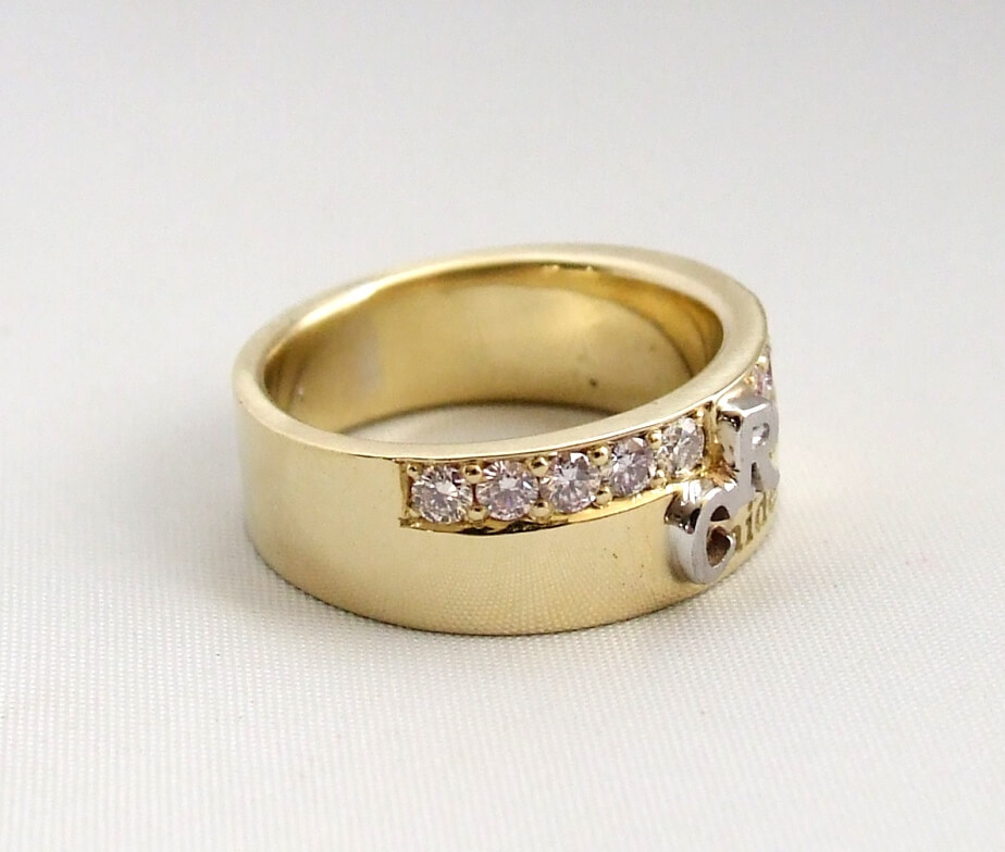 Bicolor Ring Met Diamant