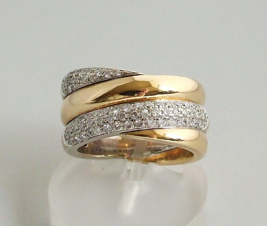 18 karaat gouden ring met briljanten kopen Mooie ring