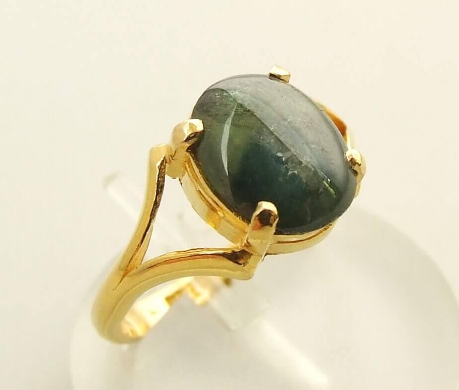 Gouden ring met labradoriet kopen Ring met labradoriet