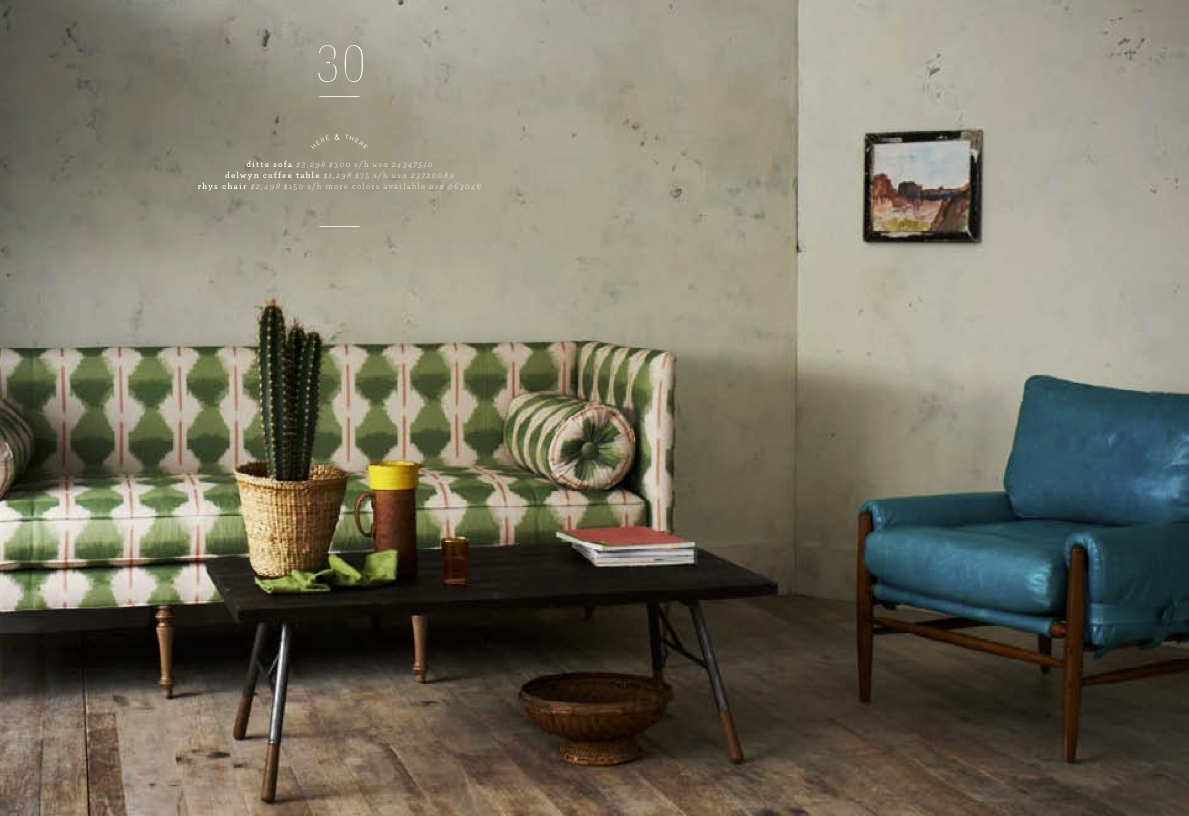 Habitat  Living Spaces in shades of Caramel  Mint  Atelier Christine