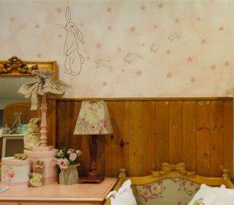 "Pintura ""Coelhas + estrelas"""