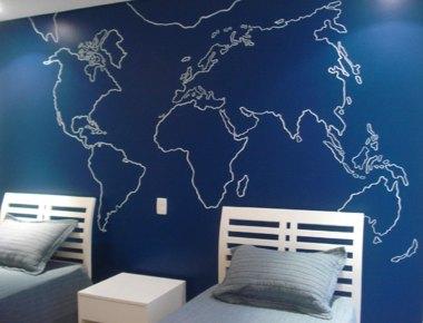 """Pintura """"Mapa-mundi"""""""