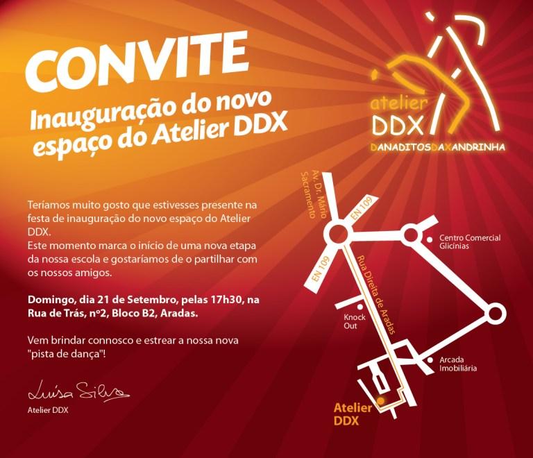 Cartaz inauguração Atelier DDX