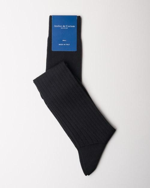 Black Hand-linked 100% Merino Wool Socks
