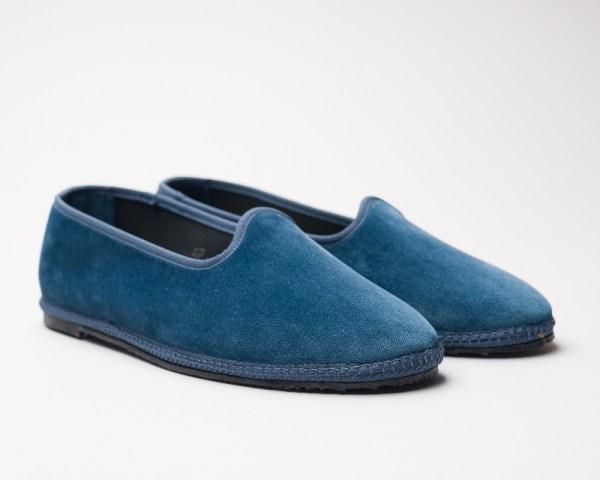 Atelier de Corium Carta da Zucchero velvet Friulane slippers