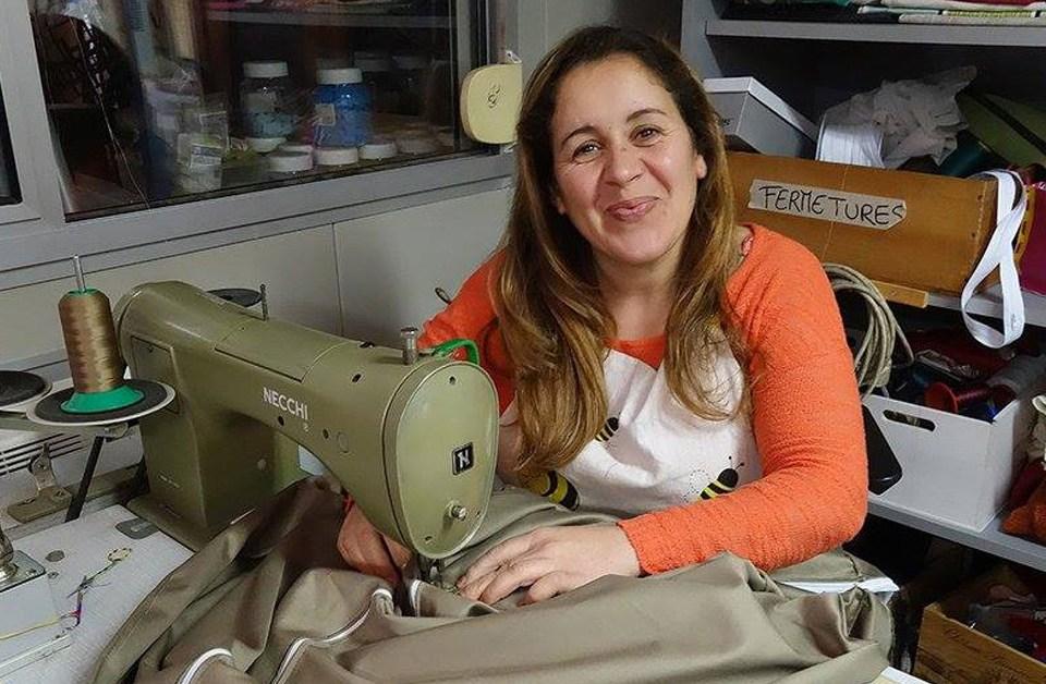 Couturière tapisserie d'ameublement recyclerie ressourcerie emploi pérenne