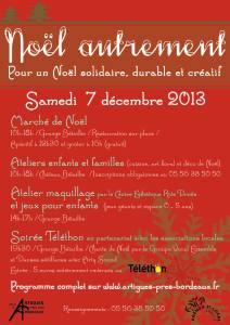 Noël Autrement affiche 2013