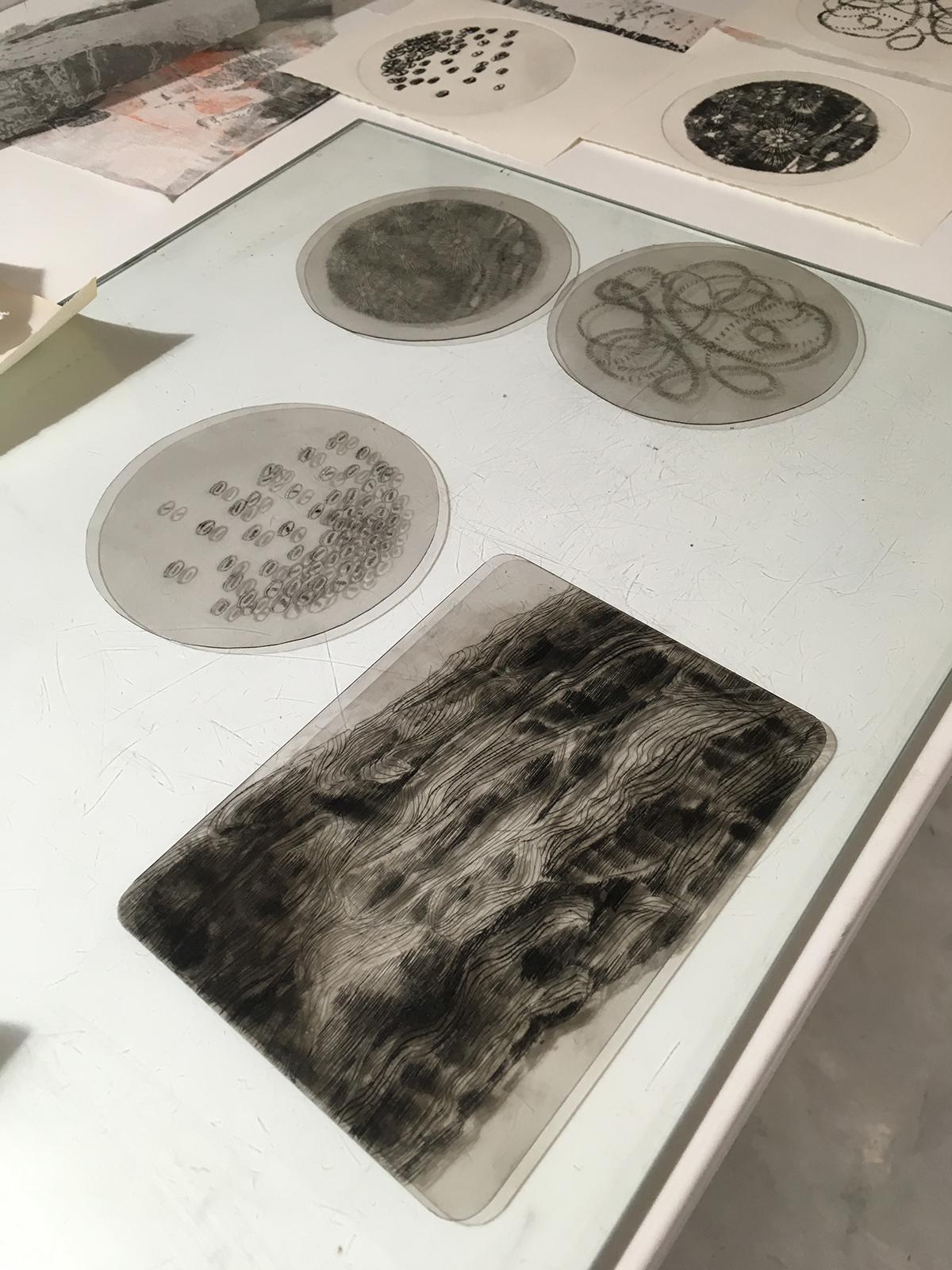 """atelier de gravure et estampe  """" atelier graphINK """" cours et stages sur bordeaux"""