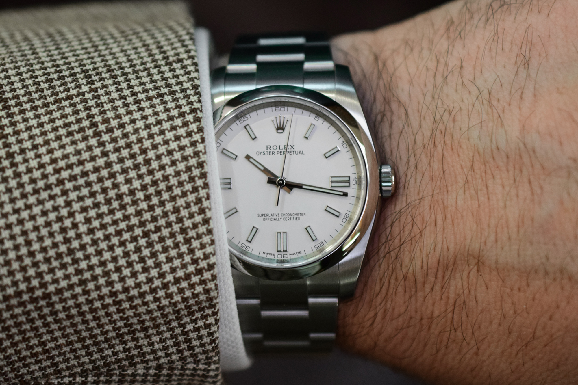 Hands-On: Rolex Oyster Perpetual Black & White Dial (Video) - ATELIER DE GRIFF