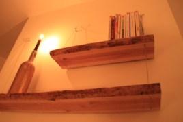 159€ - Étagères en bois 100% faites main. 2 planches de bois brut et câbles de suspension. Commande possible par mail