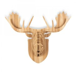 Wood Safari Trophy Animal Head - Moose 2