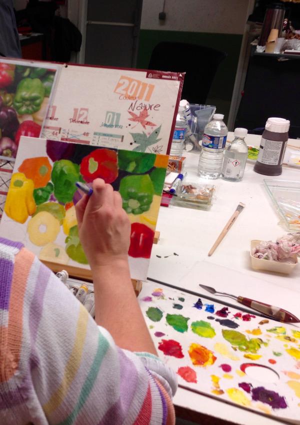 Cours de peinture : légumes