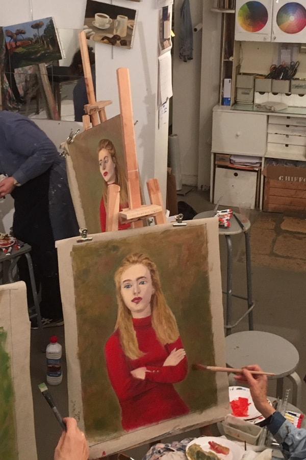 Portrait à l'huile (femme)